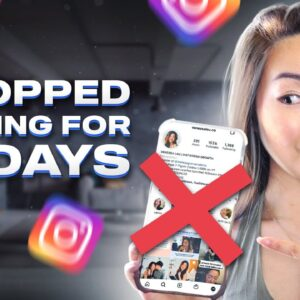 I STOPPED posting on Instagram for 30 days... (WHAT HAPPENED TO MY ACCOUNT!?) 😱